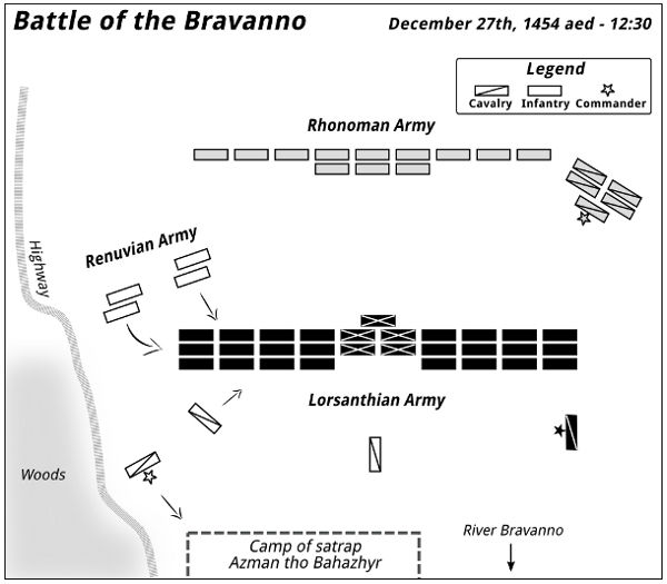 Battle of the Bravanno — 12:30 - 1455-12-27 aed
