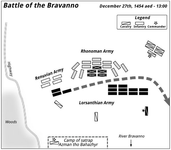 Battle of the Bravanno — 13:00 - 1455-12-27 aed