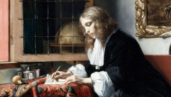 Gabriel Metsu: Young man writing letter